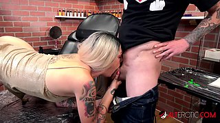 Inked up hottie Sully Savage has her clit tattooed