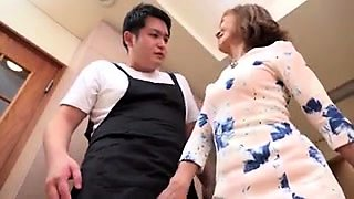 Amateur Japanese granny is yearning for a hardcore fucking