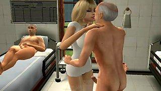 Sims 2 Nurse Brown Part#2animation uniform fetish
