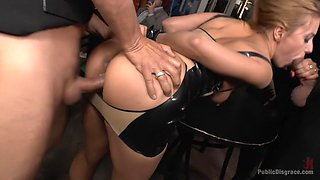 Blonde Anal Slut Disgraced on Dirty Streets
