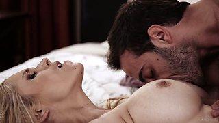 Sensual blowjob is definitely guaranteed by sexy busty babe Sarah Vandella