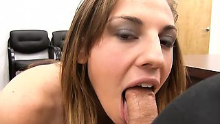 Busty Girl Next Door Fucks and Swallows Jizz Load