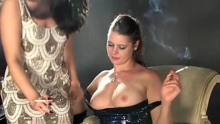 Incredible homemade Lesbian, Smoking porn movie