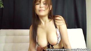 Naughty Japanese AV model in mmf group fucking