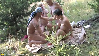 Mature Sluts Having Fun While Hiking