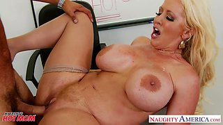 Big tittied teacher Alura Jenson has an affair with one of her students