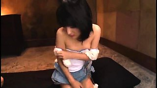 Cute Japanese girl with tiny tits gets fucked and facialized