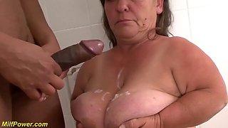 Midget granny big cock interracial fucked