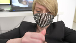 Busty Office Girl Herjob And Sucks Dick