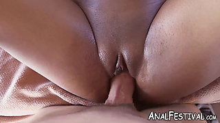 Ebony babe Aaliyah Grey rides cock cowgirl style by the pool
