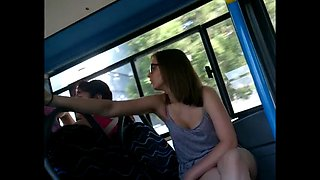 Hungarian teen spy camera hidden camera in bus voyeur video