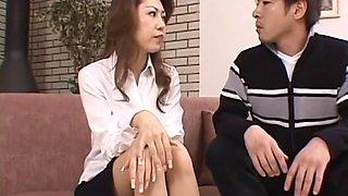 Horny Japanese girl Reina Sawada in Best Cougar, Cunnilingus JAV scene