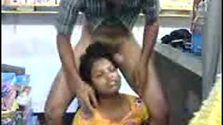Tamil office receptionist fucked by boss