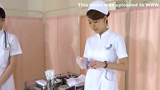 Incredible Japanese model Yuki Aoi, Akari Asakiri, Nachi Sakaki in Amazing Nurse, Fingering JAV scene