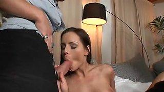 Tina R does blowjob in sexy dp gangbang free video