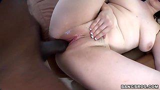 Big tits meet a big burly black dick. Staring Tessa Lane.