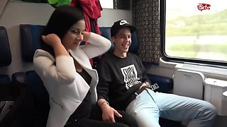 Raunchy Foursome Love Making In Public Train