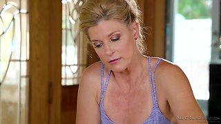 India Summer and Audrey Noir are making love in a massage parlor and enjoying it a lot