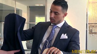 MENATPLAY Latino In Suit Klein Kerr Fucked By Johan Kane