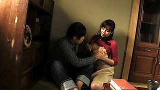 Provoking Japanese housewives satisfying their lust for cock