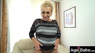 Horny grandma, Magdi, wants her pussy stuffed by an energic young dick