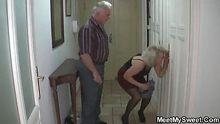 Depraved parents fuck his GF