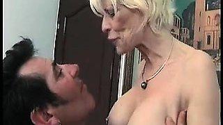 Mature femdom fetish brit in stockings jerks losers dick