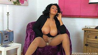 Naughty MILF Danica Collins pleasures her cravings with her fingers