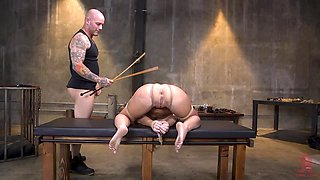 Blonde babe loves BDSM and being tied up and used by her master