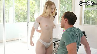 Sex-starved boyfriend fucks creampied pussy of Lily Rader several times
