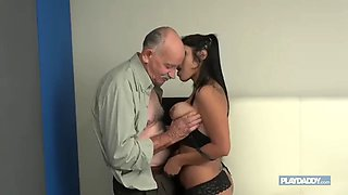 Old man fuck a young latina girl
