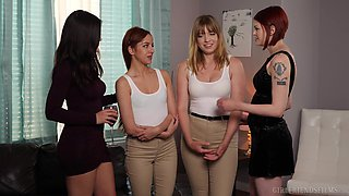 Kendra Spade in red lingerie seduces her friend Vanna Bardot