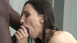 Interracial sex partners enjoy oral foreplay and foot fetish