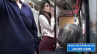 Very hot asian teen fucked on the bus