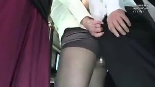 Cheating wife in the bus