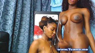 Hot Ebony Shemale and Babe Big Asses