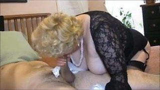 Giving sissy boy a pantie handjob, suck and good hard fuck