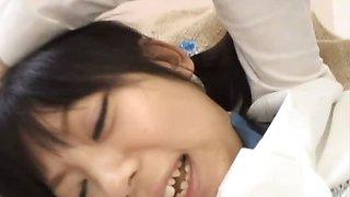 Sweet and innocent schoolgirl Minami Asaka\'s pussy eaten