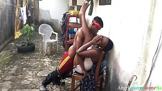 Threesome, Two Gangsters,bang Angel Queenshome9ja Hardly With Their Black Long Bbc After Smoking Marijuana