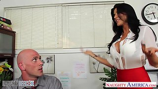Flirtatious office babe Romi Rain just wants to get fucked good