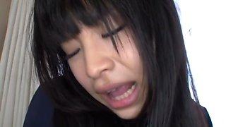 japanese schoolgirl has sex shyly in her graceful school uniform