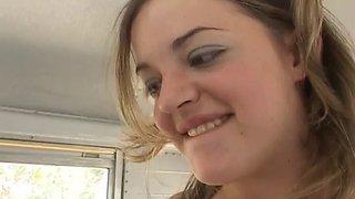 teens get banged on school bus