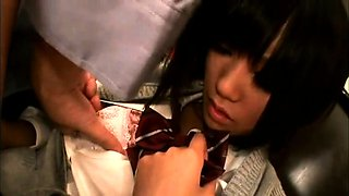 Lovely Japanese schoolgirls indulge in hardcore sex action