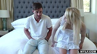 Alix Lynx - Blonde Beautiful Milf Gags On Daughters Babe