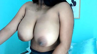 Amateur cougar MILF with small boobs is jerking cock