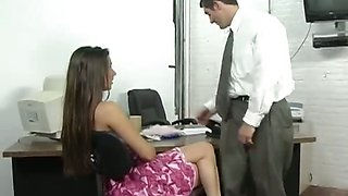 Brunette Secretary Getting Boned on Desk