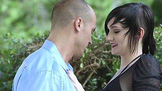 Slutty emo Nikki Hearts seduces serious man Sean Lawless