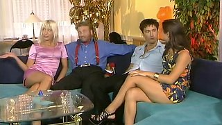 Swinger couples group sex