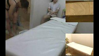 Voyeur massage video with Japanese bimbo
