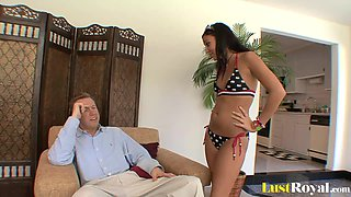 Only a daddy can thoroughly please Ivy Winters